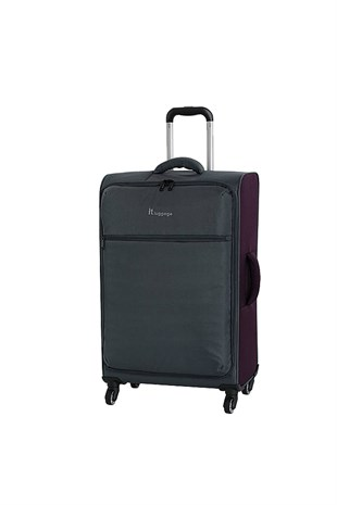 IT Luggage 2232 Orta Boy Kumaş Valiz Gri