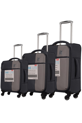 IT Luggage 2152 Kumaş Valiz Seti Gri
